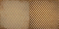Bo Bunny - Double Dot Cardstock - Decaf Chevron