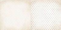 Bo Bunny - Double Dot Cardstock - Sugar Chevron