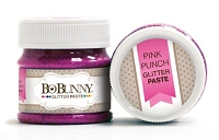 Bo Bunny - Double Dot Glitter Paste - Pink Punch Glitter Paste :)
