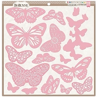 Bo Bunny - Stickable Stencils - Butterflies (set of 16)