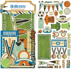 Bo Bunny - Game On! Collection - Noteworthy Die-Cuts