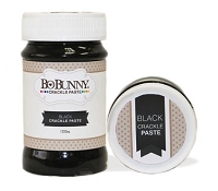 Bo Bunny - Essentials - Black Crackle Paste
