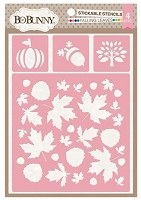 Bo Bunny - Stickable Stencils - Falling Leaves
