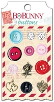 Bo Bunny - Love Letters Collection - Buttons