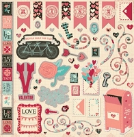 Bo Bunny - Love Letters Collection - 12x12 Chipboard :)
