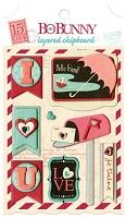 Bo Bunny - Love Letters Collection - Layered Chipboard :)