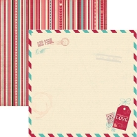 Bo Bunny - Love Letters Collection - 12x12 Double Sided Paper - Love Letters
