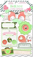 Bo-Bunny - Pincushion Collection - Layered Chipboard