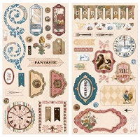 Bo Bunny - Provence Collection - Chipboard
