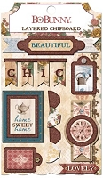 Bo Bunny - Provence Collection - Layered Chipboard