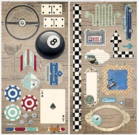 Bo Bunny - Wild Card Collection - Chipboard
