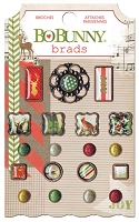 Bo Bunny - Christmas Collage Collection - Brads :)