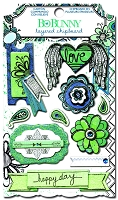 Bo-Bunny - Zip-A-Dee Doodle Collection - Layered Chipboard