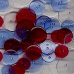 Clear Round Buttons - Yankee Doodle