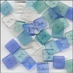 Clear Square Buttons - Ocean