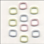 Pearl Embellishments - Pastel Rectangles