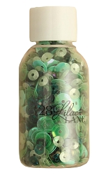 28 Lilac Lane/Buttons Galore - Bead & Sequin Mix - Forest Gems