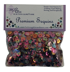 28 Lilac Lane/Buttons Galore - Premium Sequins - Coral
