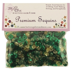 28 Lilac Lane/Buttons Galore - Premium Sequins - Emerald