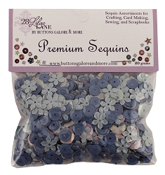 28 Lilac Lane/Buttons Galore - Premium Sequins - Sky