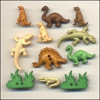 Buttons Galore - Shaped Buttons - Dinosaurs
