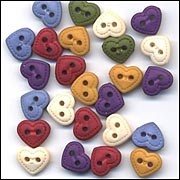 Buttons Galore - Shaped Buttons - Quilts Hearts