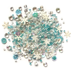 Buttons Galore - Sparkletz - Snow Crystals