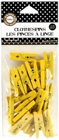 Canvas Corp - Mini Decorative Clothespins - Yellow