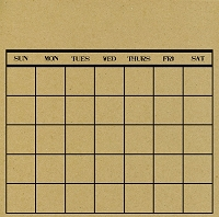 Canvas Corp - 12x12 Cardstock - Black and Kraft Stamped Calendar
