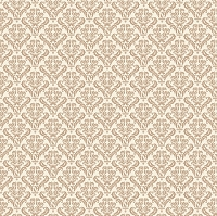 Canvas Corp - 12x12 Cardstock - Tan and Ivory Damask