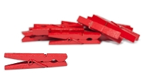 Canvas Corp - Small Clothespins - Red