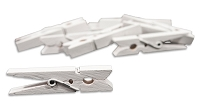 Canvas Corp - Small Clothespins - White