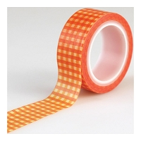Carta Bella - Autumn Collection - Decorative Tape - Orange Gingham