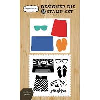 Carta Bella - Beach Day Collection - Good Times Die & Stamp Set