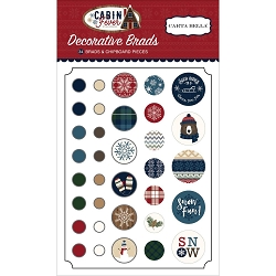 Carta Bella - Cabin Fever Collection - Decorative Brads