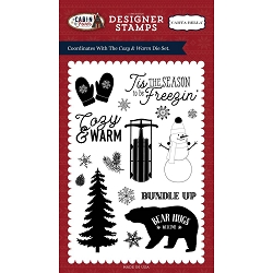 Carta Bella - Cabin Fever Collection - Cozy & Warm Clear Stamp
