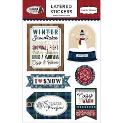 Carta Bella - Cabin Fever Collection - Layered Stickers