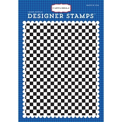 Carta Bella - Cartopia Collection - A2 Checkered Flag Background Stamp