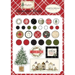 Carta Bella - Christmas Collection - Decorative Brads