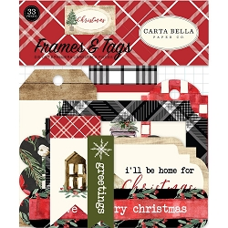 Carta Bella - Christmas Collection - Die Cut Tags & Frames