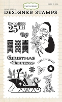 Carta Bella - Christmas Wonderland Collection - Deck the Halls Stamp
