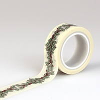 Carta Bella - Christmas Wonderland Collection - Decorative Tape - Holly Berry