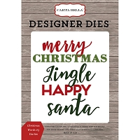 Carta Bella - Christmas Delivery Collection - Christmas Words #3 Die Set
