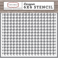Carta Bella - Christmas Delivery Collection - Houndstooth Stencil (6