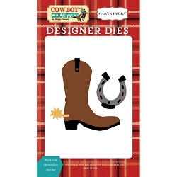 Carta Bella - Cowboy Country Collection - Boots & Horseshoe Die Set