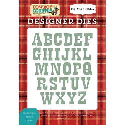 Carta Bella - Cowboy Country Collection - Big Sky Saloon Alphabet Die Set