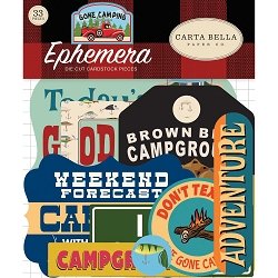 Carta Bella - Gone Camping Collection - Die Cut Ephemera