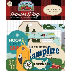 Carta Bella - Gone Camping Collection - Die Cut Tags & Frames