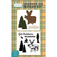 Carta Bella - The Great Outdoors Collection - Outdoor Wilderness Die & Stamp Set