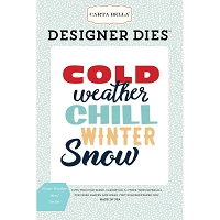 Carta Bella - Snow Fun Collection - Winter Weather Words Die Set
